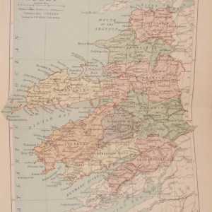 1881 Antique Colour Map of The County of Kerry printed by George Philips, with the map constructed by John Bartholomew and edited by P. W. Joyce.