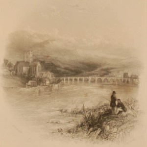 1838 Antique print a steel engraving of Killaloe on the Shannon. The print was engraved by H Wallis and is after a drawing by Thomas Creswick.
