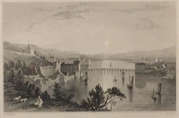 1832 antique print new ross wexford ireland