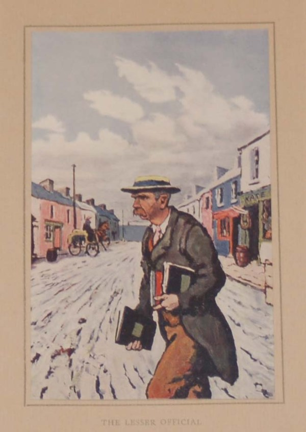 Jack B Yeats The Lesser Official. An antique print after Jack B Yeats from 1913 published by T & N Foulis, London.
