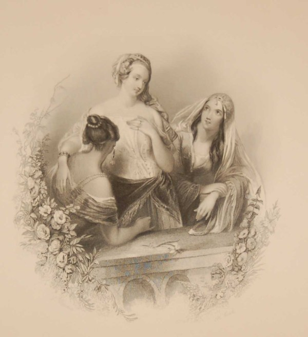 Antique print an engraving from 1844 titled Loves Inquest Engraved by H Cook and painted by J Brown.