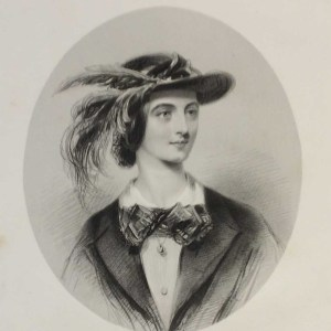 Diana Vernon, antique print, Victorian, an engraving from circa 1880 after the original painting by John Hayter.