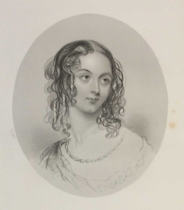 Rose Bradwardine, antique print, Victorian, an engraving from circa 1880 after the original painting by John Hayter.