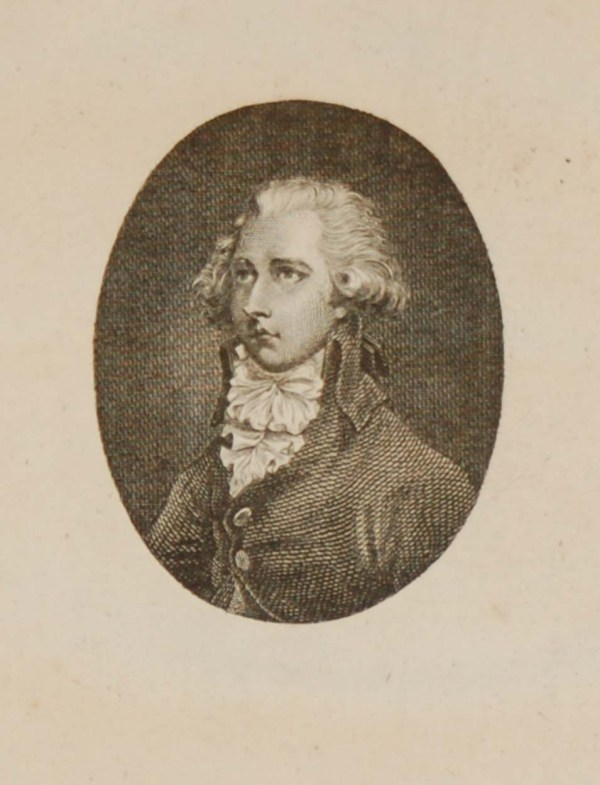 Antique engraving of William Pitt. Titled The Right Hon William Pitt. Pitt was the youngest ever British Prime Minister.