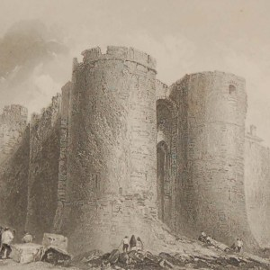 Antique prints from the 1840's of Limerick, Castle of Limerick and Carrigogunnel Castle.