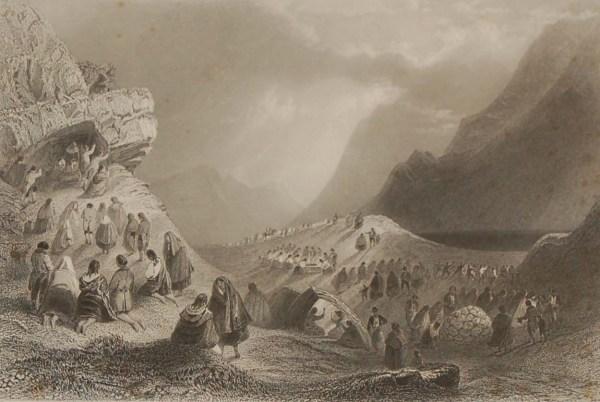 1841 connemara galway set 6 antique prints