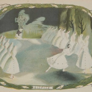 Vintage colour print by Sheila Jackson from 1945 titled Giselle.