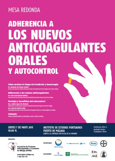 CARTEl ADHERENCIA A LOS NUEVOS ANTICOAGULANTES ORALES Y AUTOCONTROL