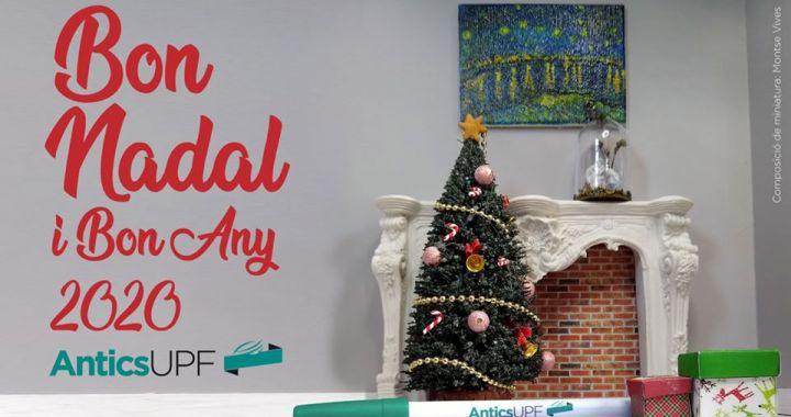 Nadala xemeneia i avet decorats per Nadal