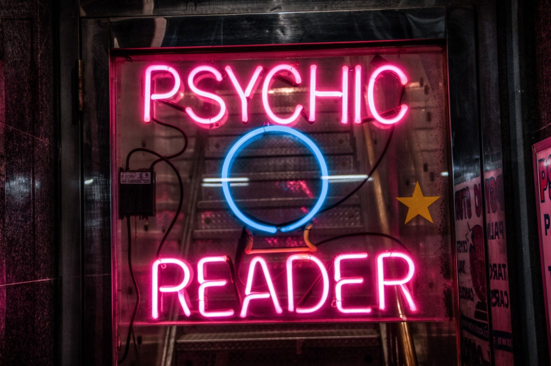 Psychic reader sign
