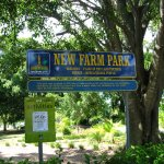 New Farm Park sign