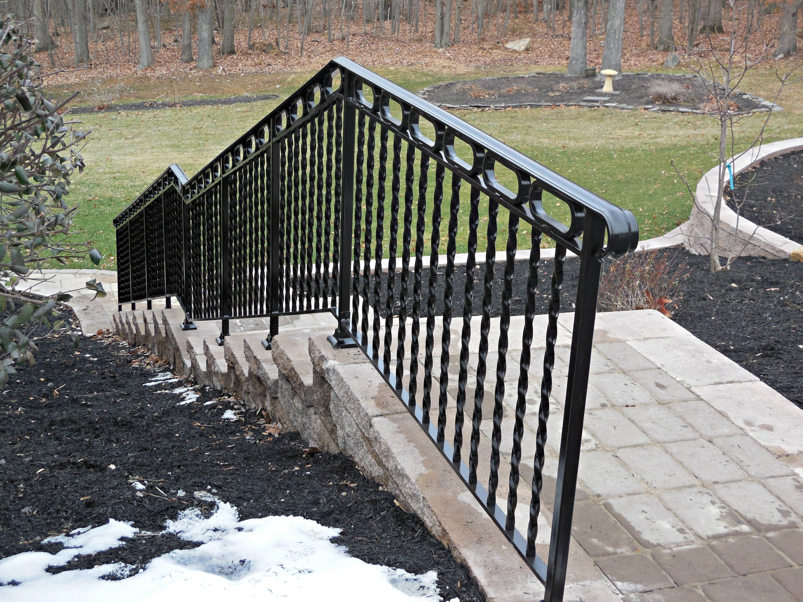 Exterior Railings Antietam Iron Works | Metal Handrails For Outdoor Steps | Hand | Front Porch Stair Railing | Outside | Patio | Gas Pipe