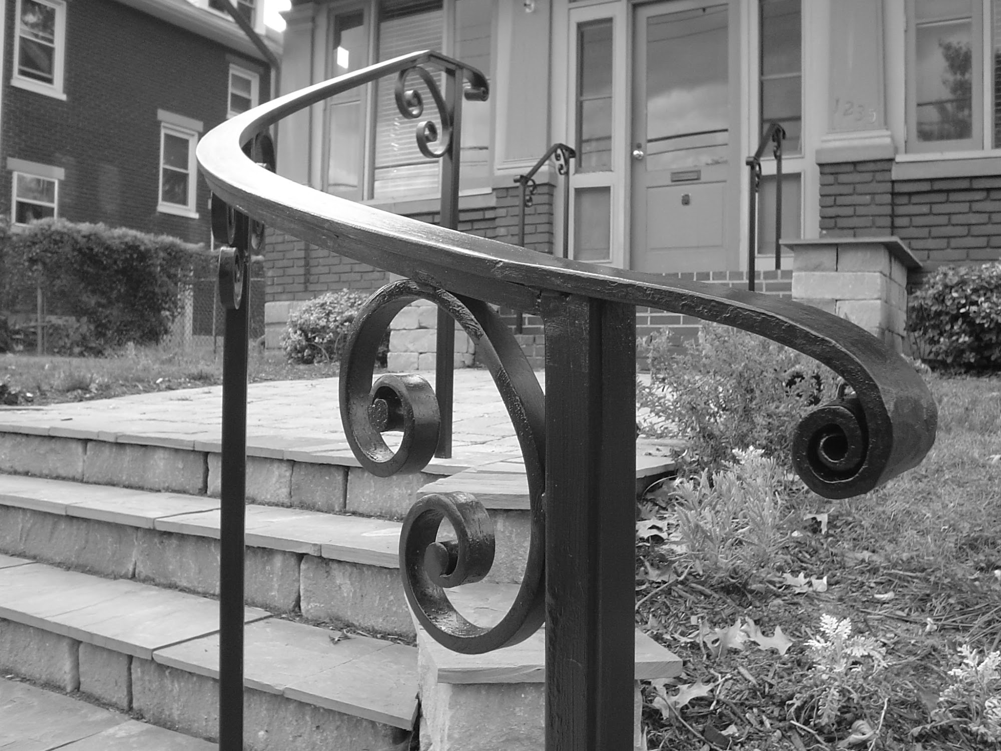 Exterior Railings Antietam Iron Works | Curved Wrought Iron Railings | Colonial | Wood | Wall Mounted | Outdoor | Veranda