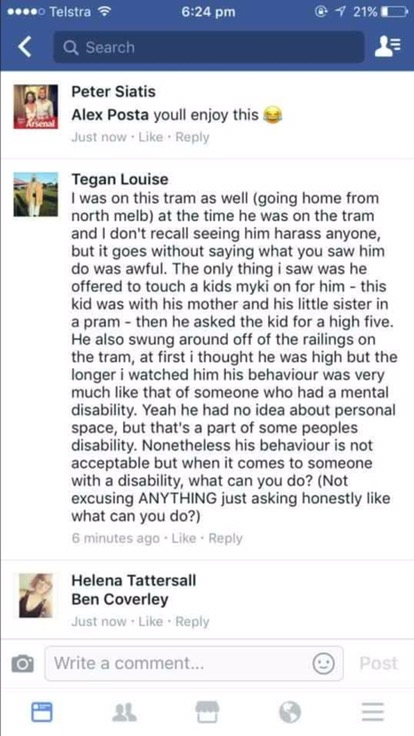 Clementine Ford bullies disabled man