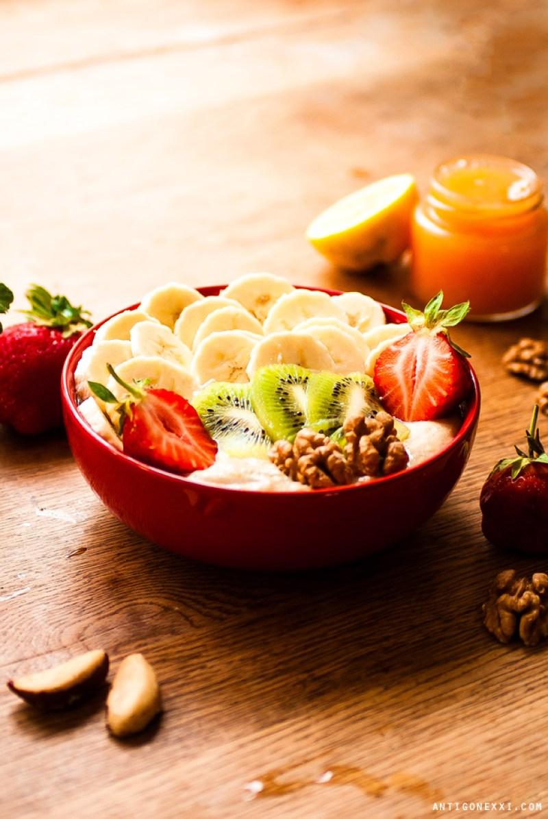 Porridge aux fruits vegan (délicieux !) - Antigone XXI