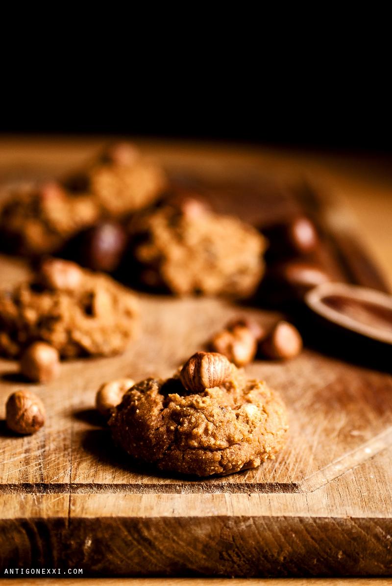 Cookies d'automne Noisette & Châtaigne {vegan + sans gluten} - Antigone XXI