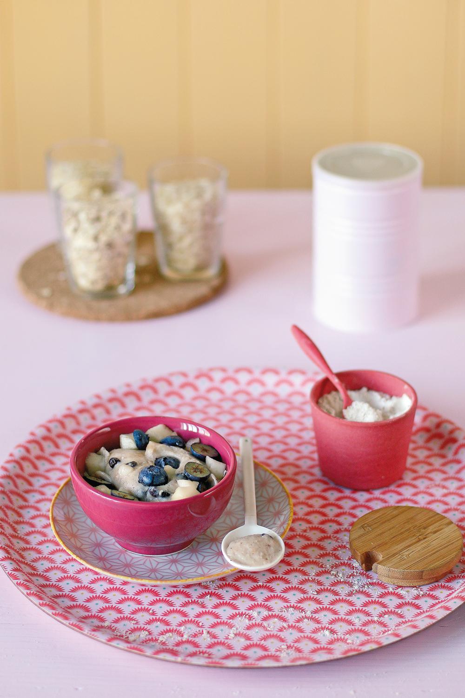 Crème Kokkoh maison pour le petit-déjeuner. Recette du livre Bébé Veggie, Ophélie Véron et Linda Louis - Antigone21.com