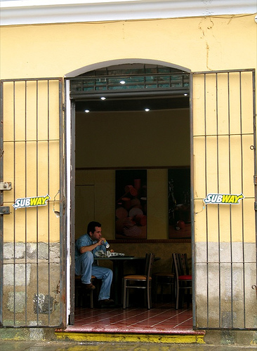 Subway Doorway in La Antigua Guatemala