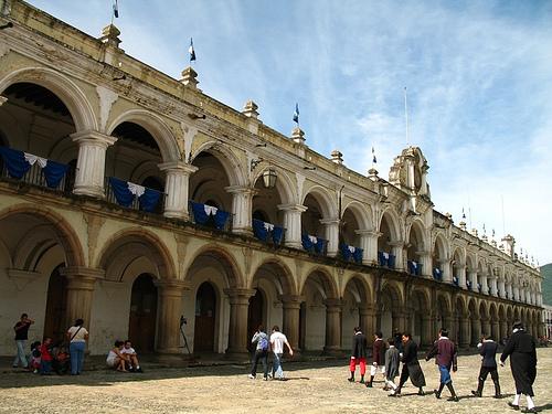 Bunting at Palacio de los Capitanes in Antigua