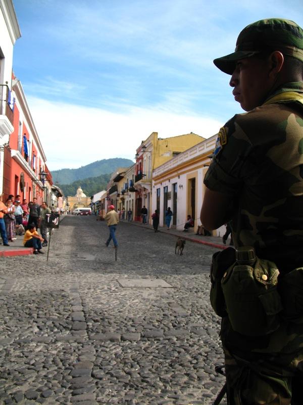 Guard at Calle del Arco