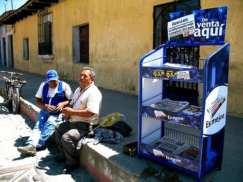 Guatemalan Newpaper Stand in Antigua Guatemala