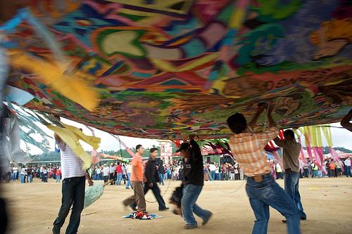 Under a Giant Kite from Sumpango