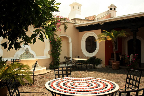 Typical Patio from Antigua Guatemala