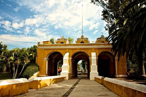 Inside El Calvario Church Atrium