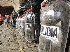 Antiriot Police at the Palacio del Ayuntamiento