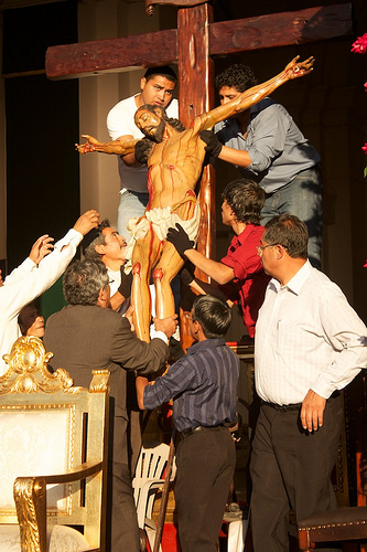 Unmounting the Christ from the Cross by Rudy Girón