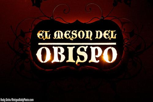El Mesón del Obispo Sign