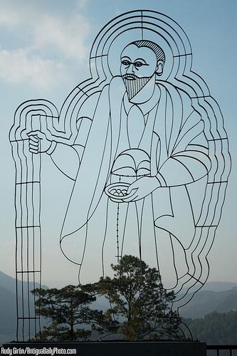 Santo Hermano Pedro Sculpture by Rudy Girón