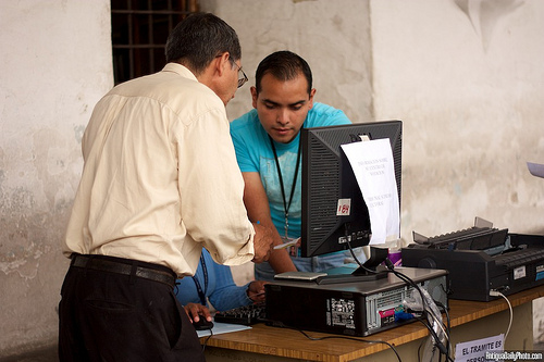 Voting Location Desk