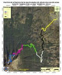Map of the route of the volcano climb of Subida por la vida