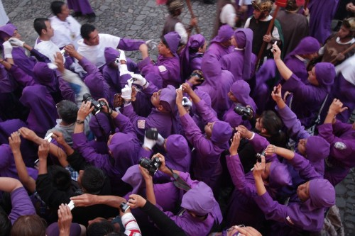 The Cucurucho Photographers of the Holy Week by Leonel -Nelo- Mijangos
