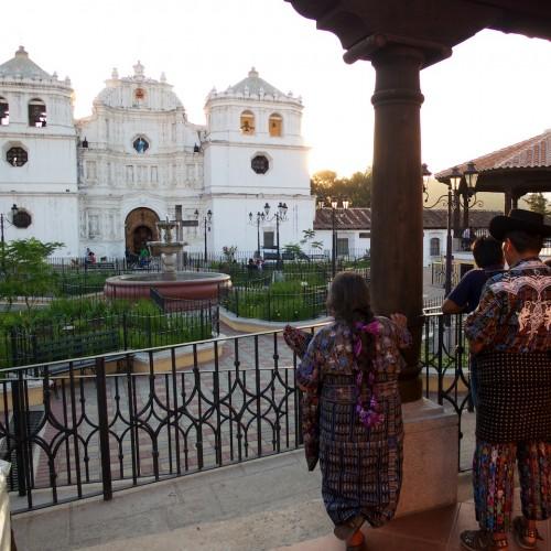 Admiring the Cathedral of Ciudad Vieja by Rudy Girón