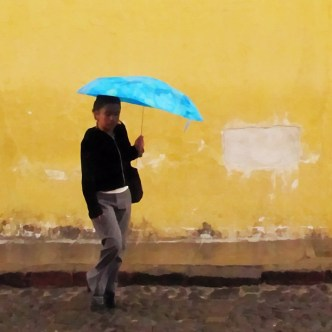 It's Umbrella Time in Antigua Guatemala by Rudy Girón