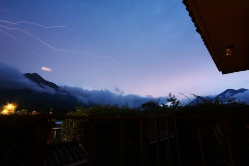 Capturing Lightning from a Balcony in Antigua Guatemala by Rudy Girón