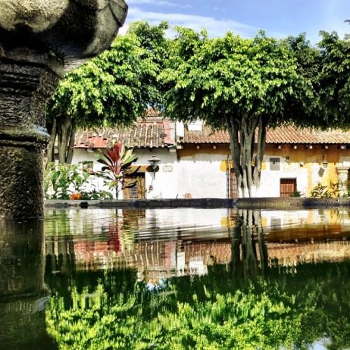 Escuela De Cristo Fountain Reflections by Rudy Giron