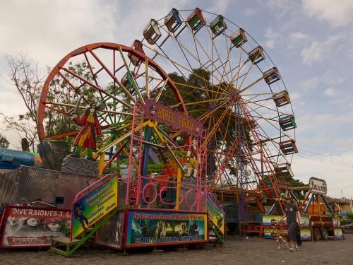 Typical Guatemalan Fairground Ferris Wheel by Rudy Giron