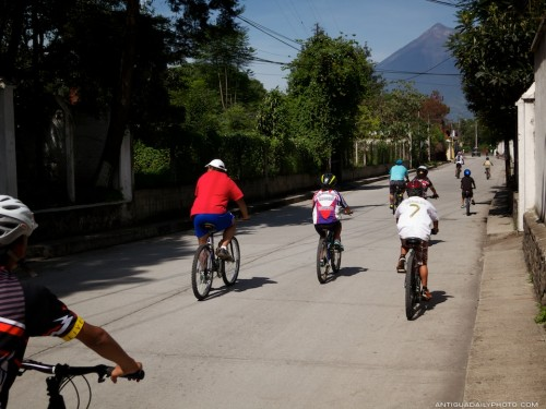 Sunday Morning Bicycle Rides With Family and Friends Around Antigua Guatemala by Rudy Giron