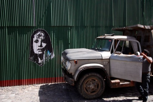 Stencil Art On The Streets of Antigua Guatemala by Rudy Giron