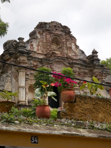 Typical Rooftop Vistas from Antigua Guatemala by Rudy Giron