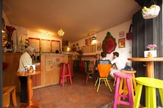 Colorful Pitaya Juice Bar in Antigua Guatemala by Rudy Giron