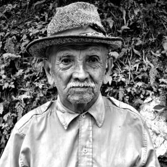 An old man with a good face by Rudy Giron