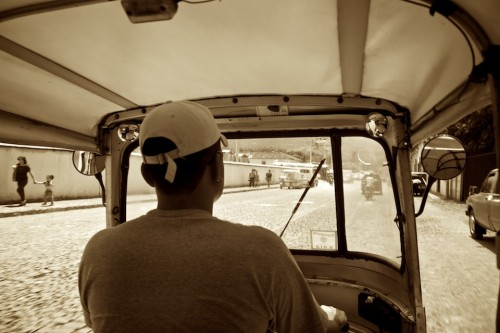 View from Inside a TukTuk Moto Taxi by Rudy Giron - www.rudygiron.com