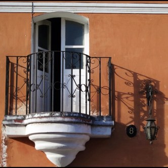Small Balcony in Antigua Guatemala by Rudy Giron