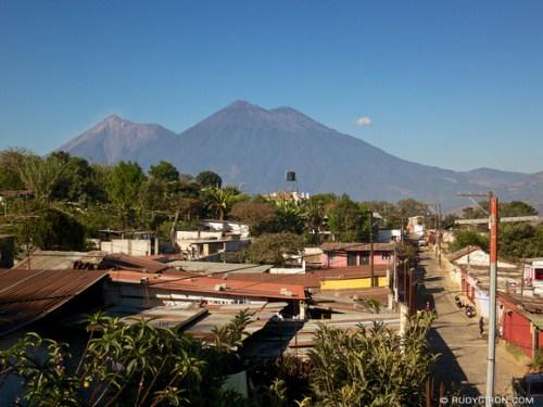 Rudy Giron: AntiguaDailyPhoto.com &emdash; Vista of Volcanoes from San Juan del Obispo