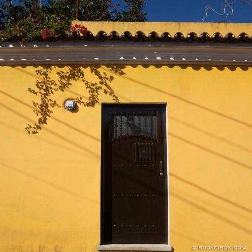 Rudy Giron: AntiguaDailyPhoto.com &emdash; Yellow wall and shadows
