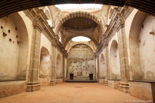 Rudy Giron: AntiguaDailyPhoto.com &emdash; Arches Inside Capuchina Ruins